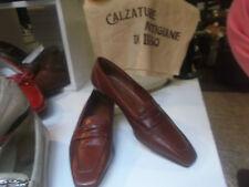Mocasines zapatos de mujer BAROCCO piel marrón alta calidad 37.5-leather zapatos