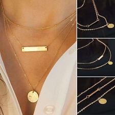 De Mujer Colgante Cadena De Oro Gargantilla Collar Grueso Tipo Babero Joyería