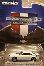 WHITE 2012 CHEVROLET COPO CAMARO GREENLIGHT 1:64 SCALE DIECAST METAL MODEL CAR