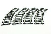 Lego Train Supplemental 9V Set 4520 Curved rails -dark bluish gray 100% complete