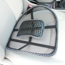 1PC Black Cool Vent Cushion Mesh Back Lumbar Support New Car Office Chair Truck