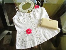 Linen Blend V-Neck Floral Tops & Shirts for Women