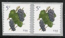 US Scott #5038, PAIR 2016 Grapes 5c VF MNH