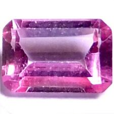NATURAL VERY NICE PINK TOPAZ LOOSE GEMSTONES (6.1 x 4 mm) EMERALD CUT
