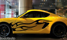Car Racing Blaze flames for Boxster Vinyl  Auto Door stickers Side Decals  #367