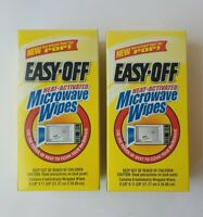 Easy-Off Heat Activated Microwave Wipes Lot of 2 Boxes.
