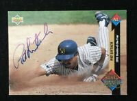 PAT LISTACH 1993 UPPER DECK ROY AUTOGRAPHED SIGNED AUTO BASEBALL CARD 491