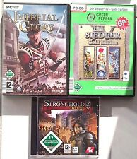 Stronghold 2 Deluxe + Die Siedler IV 4 GOLD + Imperial Glory Sammlung PC Spiele