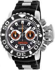 Invicta Mens Sea Hunter Torpedo 50MM Chrono Swiss Black SS Rubber Strap Watch