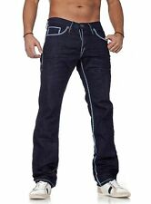 Amica Jeans Hose straight legs vintage look Kontrast Nähte für Herren Männer