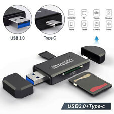 3 in 1 Type C Micro USB & USB OTG Adapter SD TF Card Reader for Samsung Phone pf