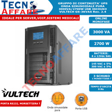 UPS 3000VA 2700W Gruppo di Continuità Onda Sinusoidale Pura Server VOIP Vultech