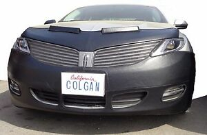 Colgan Front End Mask Bra 2pc. Fits Lincoln MKZ 2013-2016 W/License Plate