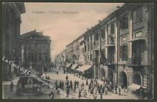 Piemonte. FOSSANO, Cuneo. Palazzo Municipale. Cartolina viaggiata nel 1915