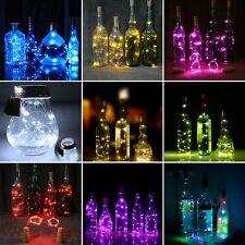 Led Solar Wine Bottle Cork Shape String Light 20 LED Night Fairy Light Lamp 1.5M