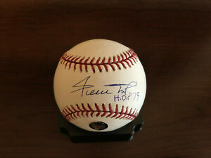 Willie Mays signed inscribed HOF 79 ROMLB baseball Mounted Memories