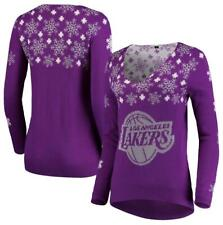 Los Angeles Lakers Women's Snowflake Ugly V-Neck Sweater Sz.M
