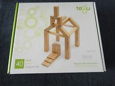 Tegu Explorer Magnetic Wooden Block Set, 40 Piece Natural P-11-024-SJG