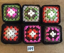 """(Lot 189) UNew 48 Vintage Style Crochet Afghan Throw 4"""" Appox Granny  Squares"""