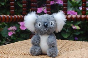 Teddy Hermann Germany GmbH Hirschaid Gray White KOALA Plush Gorgous 6 inch 1980s