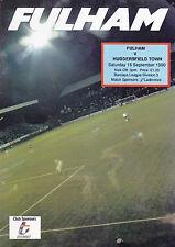 Fulham v Huddersfield Town 90-91 de la Liga Match
