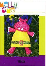 SEWING PATTERN - Melly & Me - Hilda Hippo - Softie Toy Cute Boys Girl