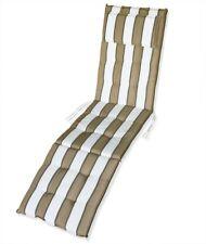 KMH® Deckchair Auflage weiß 184 x 47 cm Sitzpolster Sitzbezüge Sonnenliege beige