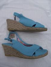 BNWT Ladies Sz 6 Stunning Aqua Rivers Brand Wedge Heel Classy Summer Sandals