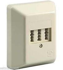 Telefondose Aufputz [Telefon Dose]; TAE NFN | für 1x Telefon und 2x Fax