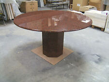 designer solid Red African Granite dining or office table  130cm dia