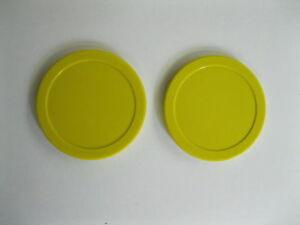 2 DYNAMO AIR HOCKEY Puck Yellow 3-1/4 NEW TOURNAMENT QUALITY
