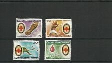 PAPUA  NEW GUINEA SG393-396 RED CROSS BLOOD BANK SET  MNH