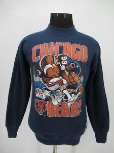 P5501 VTG Nutmeg Team NFL Chicago Bears Sweatshirt Made In USA Size M