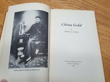 China Gold Signed Copy Theresa Sparks 1954 Hardcover Book Chow Fung Vallejo CA