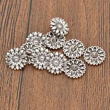10Pcs Antique Sunflower Shank Buttons Metal Replacement Garment DIY Sewing Craft