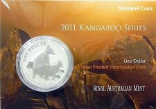 2011 KANGAROO SILVER 1oz Coin Carded