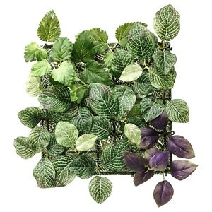 IKEA FEJKA Artificial Plant Wall Mounted Panel Green/Lilac 10 ¼'' Indoor/Outdoor