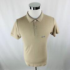 Le Tigre Tan Short Sleeve Polo Shirt Mens Medium M