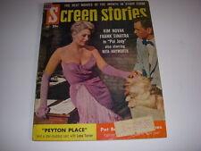 VINTAGE SCREEN STORIES MAGAZINE, DECEMBER, 1957, KIM NOVAK COVER, PEYTON PLACE!