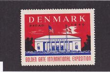 1939 GOLDEN GATE EXPO San Francisco Worlds Fair Poster Stamp Label DENMARK  #IM