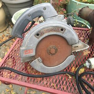 Vintage Porter Cable 146B 6 3/4 Circular Saw - Needs cleaning- RUNS GREAT