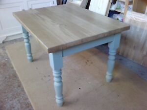 BESPOKE HANDMADE OAK TABLE - DINING/KITCHEN 1 3/4 (45MM) THICK TOP