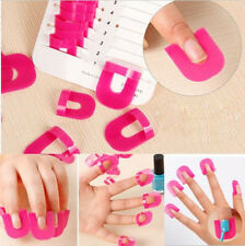 26PC Manicure Finger Nail Art Design Tips Cover Polish Shield Protector Clip Pro