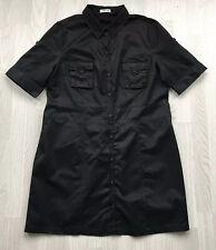 cherokee black short sleeve knee length shirt dress uk 20 AA