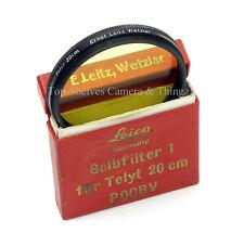 Leica/POOBV/13295(1935)E48ø/#1 Yellow Filter/Black/200mm Telyt/9cm Thembar,A+Box