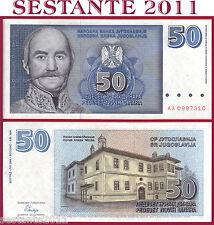YUGOSLAVIA -  50 NOVIH DINARA 1996  Prefix AA  -  Scarce -  P  151 -  FDS / UNC