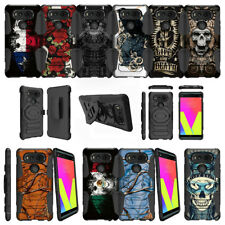 For LG V20 (2017) Protective Dual Layer Clip Case Kickstand - Tough Designs