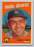 1959  OZZIE ALVAREZ - Topps Baseball Card # 504 - DETROIT TIGERS
