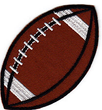 """SPORT BALL - FOOTBALL (3 1/2"""" x 2"""") -  Iron On Embroidered Patch - Sports - Game"""