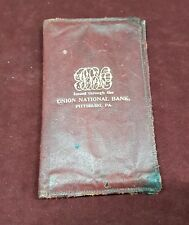 PRE WW2 LEATHER WALLET UNION NATIONAL BANK PITTSBURG PA US & COLAC AUSTRALIA